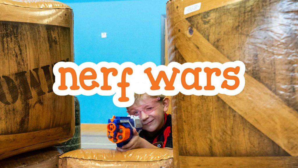 Nerf Wars at Camp 4 Champs
