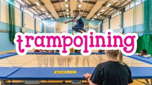 Trampolining at Camp 4 Champs